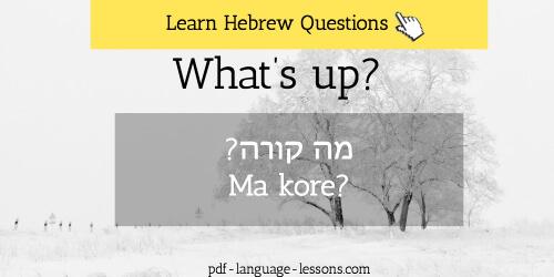 hebrew questions