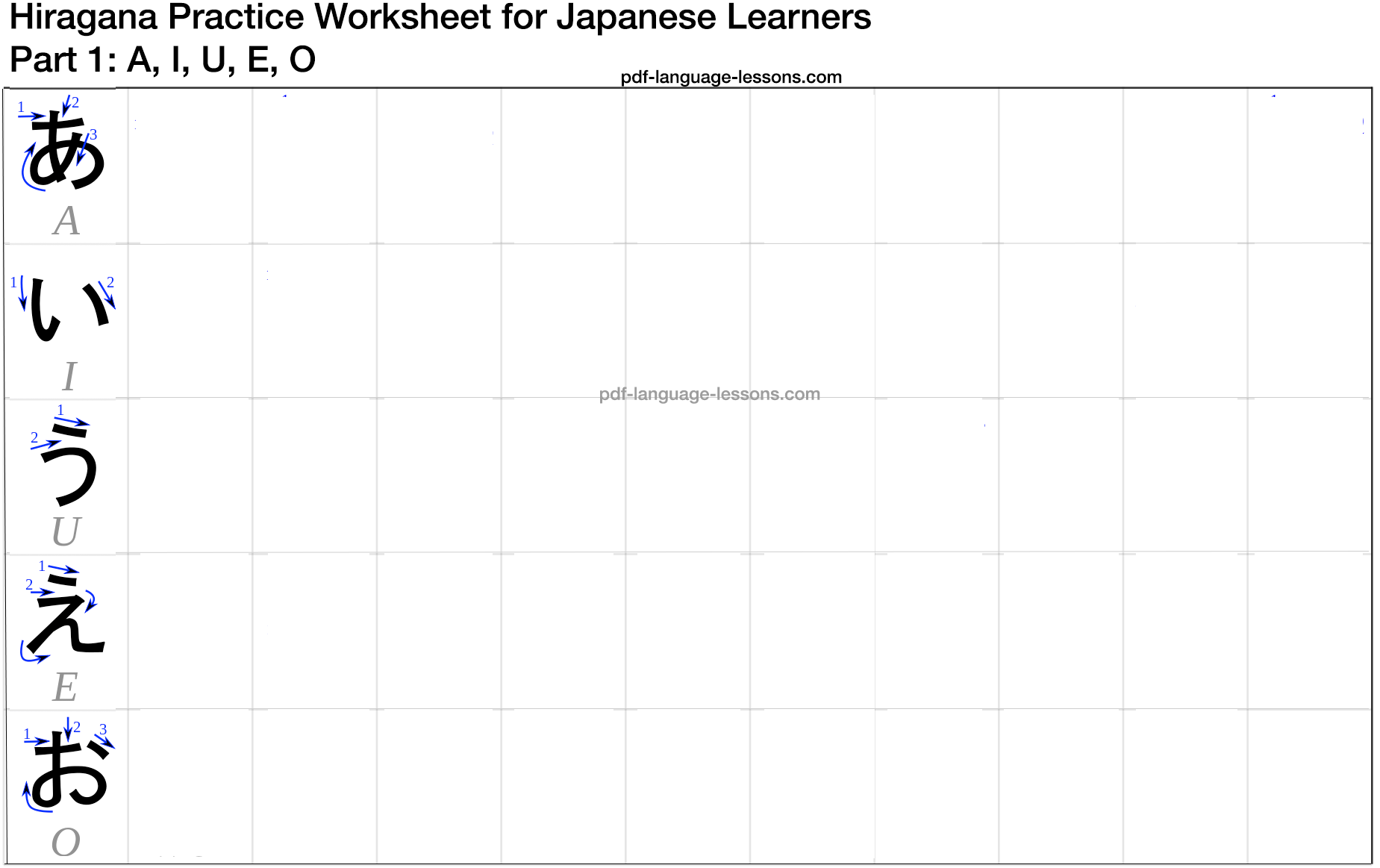 Free Worksheet Hiragana Worksheets free hiragana pdf learn to write easily in 10 steps chart