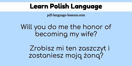 marry me in polish