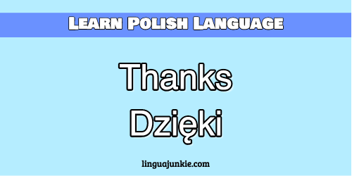 How To Say Thankyou In Polish