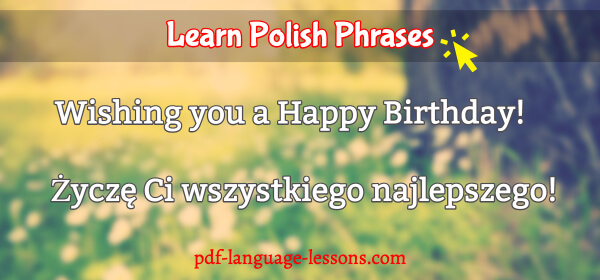 happy birthday in polish