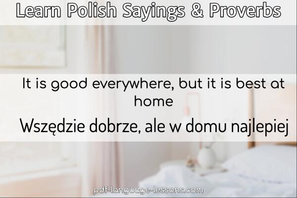 polish sayings & polish proverbs