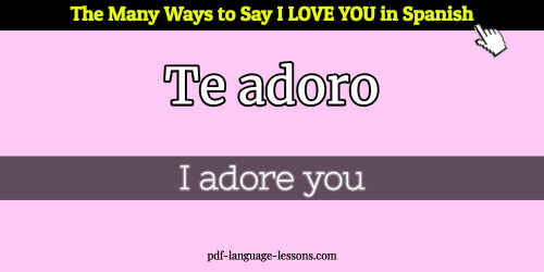 he loves you in spanish