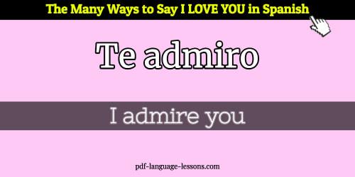 i love you in spanish