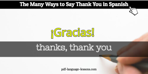 How say thank you in spanish