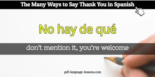 thank you in spanish