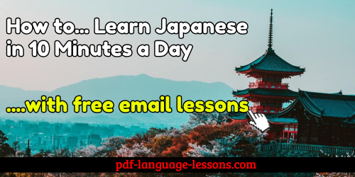 learn japanese in 10 minutes