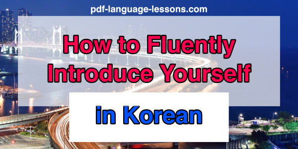 10+ Free Korean PDF Lessons  Downloads for You