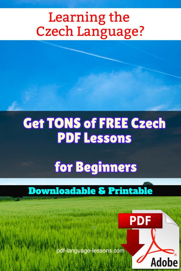 czech pdf lessons