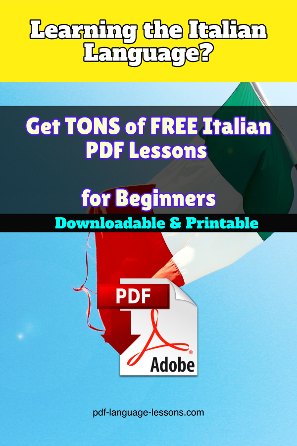 italian pdf lessons