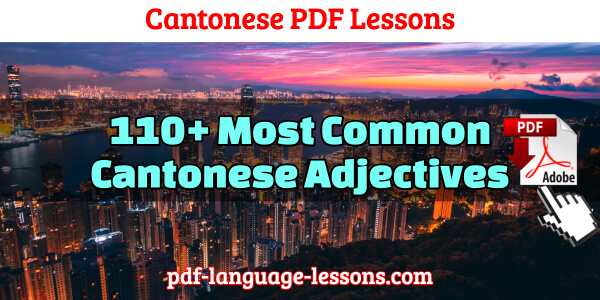 cantonese pdf lessons adjectives